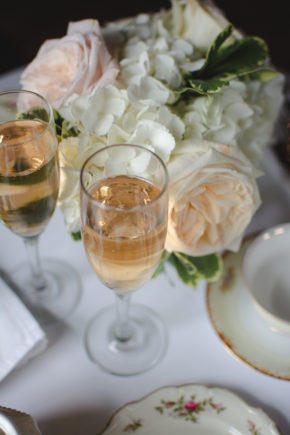 Champagne and Florals