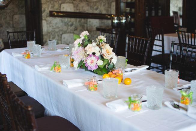 brunch bridal shower table details